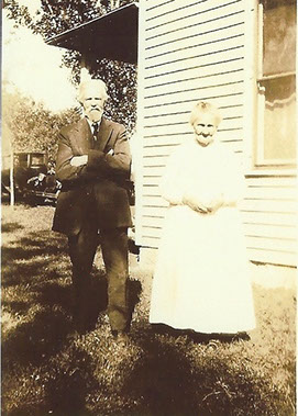 Historical photograph of second-great grandparents