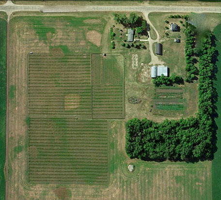 Arial view of Cottonwood Farm